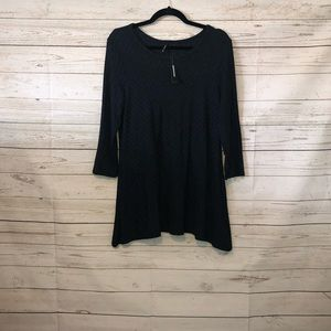 NWT Women's Large New Directions Navy Tunic